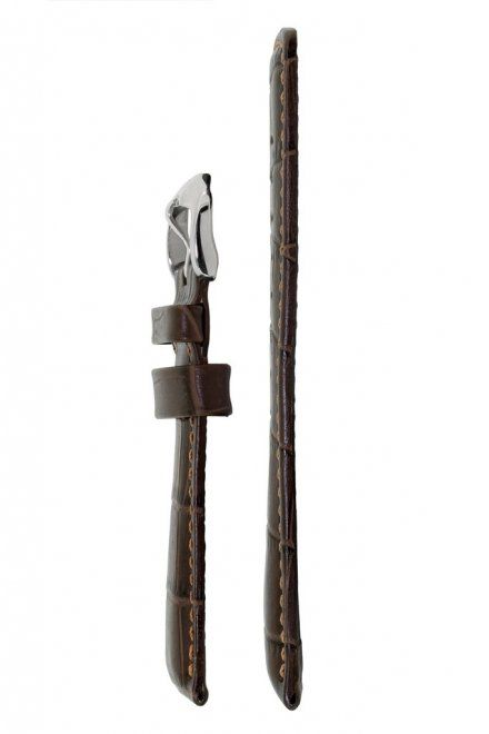 Brązowy pasek skórzany 24 mm HIRSCH Grand Duke 02528010-2-24 (L)