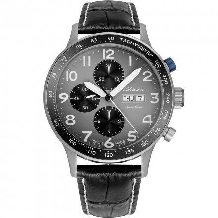 Zegarek Męski Adriatica na Pasku A1963.4227A - Automat Chronograf Swiss Made Valjoux