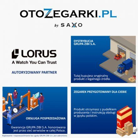 Zegarek Męski Lorus kolekcja Sports RT393GX9