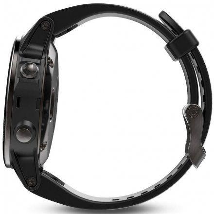 Zegarek Garmin Fenix 5S 010-01685-11 Sapphire Czarny z czarnym paskiem