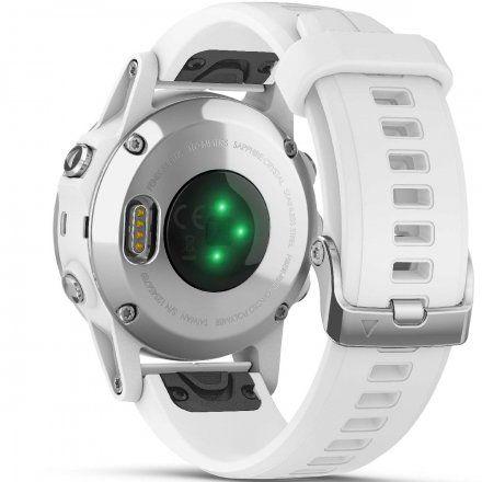 GARMIN Zegarek Fenix 5S Plus Sapphire z białym paskiem 010-01987-01