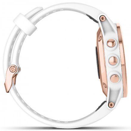 GARMIN Zegarek Fenix 5S Plus Sapphire różowo-złoty z białym paskiem 010-01987-07