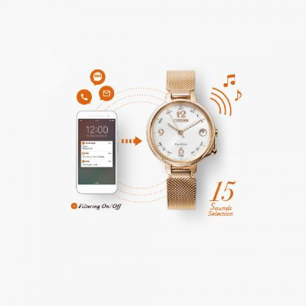 Citizen EE4033-87A Zegarek Damski na pasku Citizen Bluetooth
