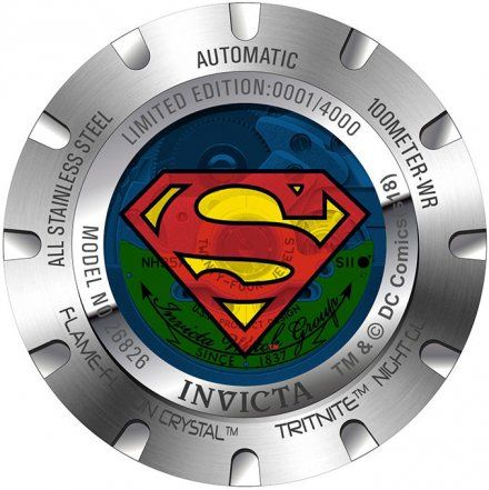 Invicta IN26826 Zegarek męski Invicta DC Comics Supermen 26826