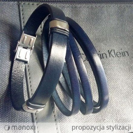 Biżuteria Manoki Skórzana bransoletka męska BA337F