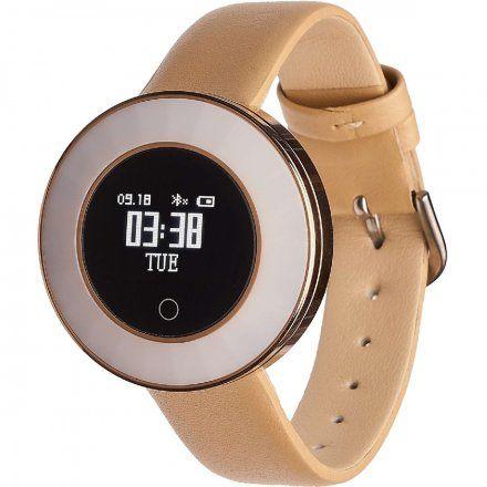 Smartwatch Garett Women Lea złoty skórzany