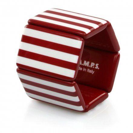 Bransoleta S.T.A.M.P.S. Belta Stripes Red & White 102246 0000