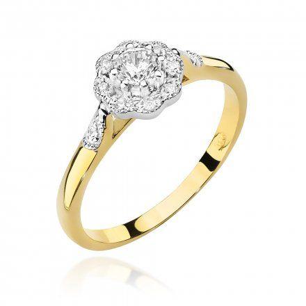 Biżuteria SAXO 14K Pierścionek z brylantami 0,28ct W-434 Złoty