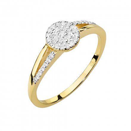 Biżuteria SAXO 14K Pierścionek z brylantami 0,18ct W-437 Złoty