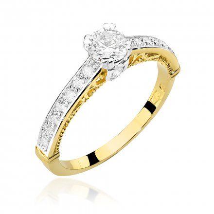 Biżuteria SAXO 14K Pierścionek z brylantami 0,56ct W-439 Złoty
