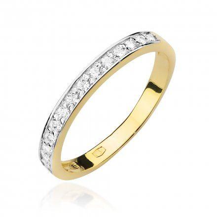 Biżuteria SAXO 14K Pierścionek z brylantami 0,20ct W-446 Złoty