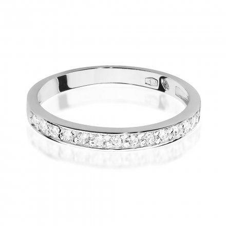 Biżuteria SAXO 14K Pierścionek z brylantami 0,20ct W-446 Białe Złoto