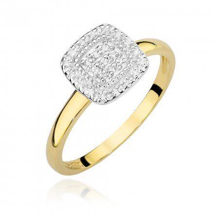 Biżuteria SAXO 14K Pierścionek z brylantami 0,13ct W-448 Złoty