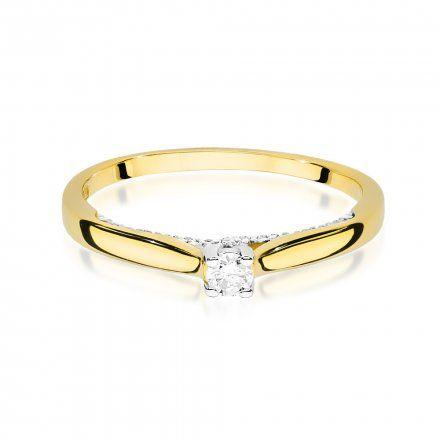 Biżuteria SAXO 14K Pierścionek z brylantami 0,23ct W-452 Złoty