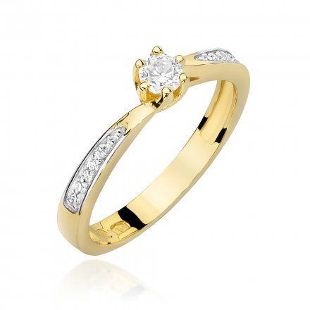 Biżuteria SAXO 14K Pierścionek z brylantami 0,20ct W-453 Złoty