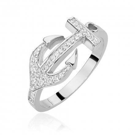 Biżuteria SAXO 14K Pierścionek z brylantami 0,20ct W-454 Białe Złoto