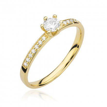 Biżuteria SAXO 14K Pierścionek z brylantami 0,37ct W-459 Złoty