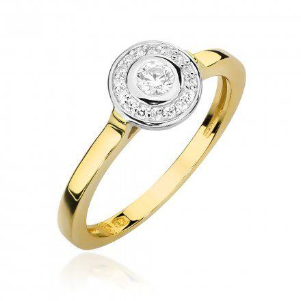 Biżuteria SAXO 14K Pierścionek z brylantami 0,20ct W-460 Złoty