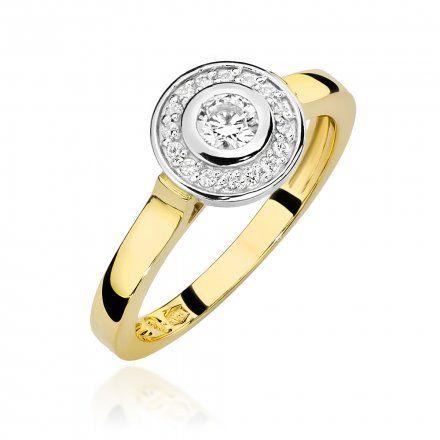 Biżuteria SAXO 14K Pierścionek z brylantami 0,23ct W-460 Złoty