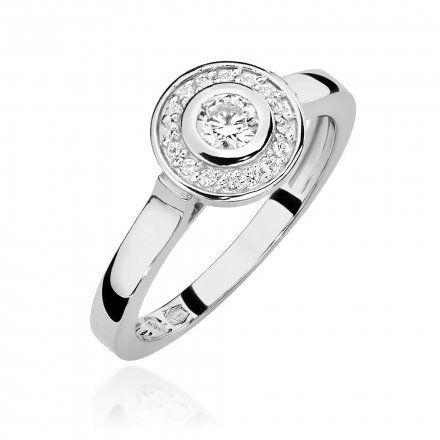 Biżuteria SAXO 14K Pierścionek z brylantami 0,23ct W-460 Białe Złoto