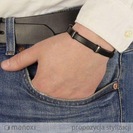 Biżuteria Manoki Skórzana bransoletka męska BA581B