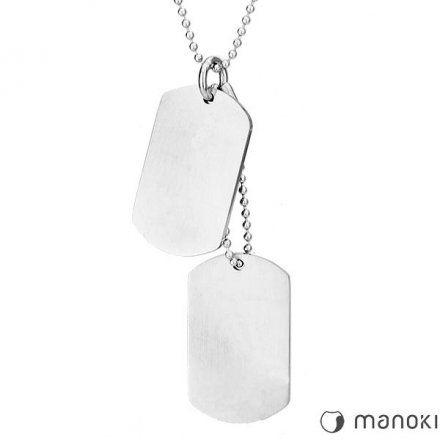 Biżuteria Manoki Stalowy naszyjnik męski WA207M