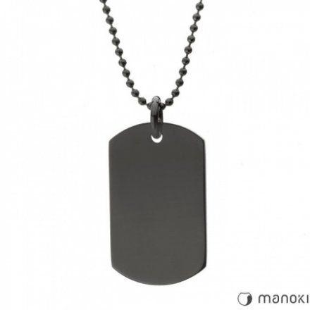 Biżuteria Manoki Stalowy naszyjnik męski WA386B