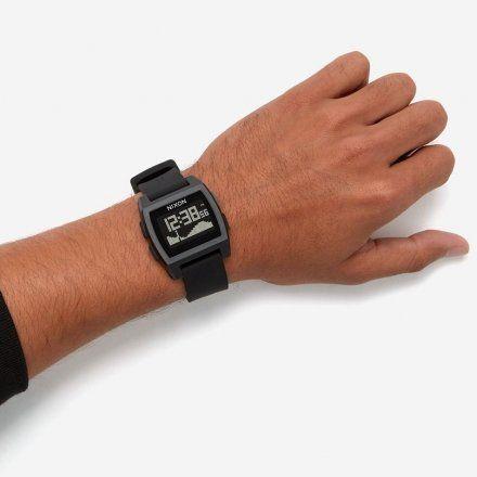Zegarek Nixon BASE TIDE ALL BLACK - Nixon A1104-001