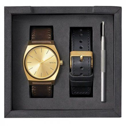 Zegarek Nixon TIME TELLER PACK ALL GOLD/BLACK/BROWN - Nixon A11372591