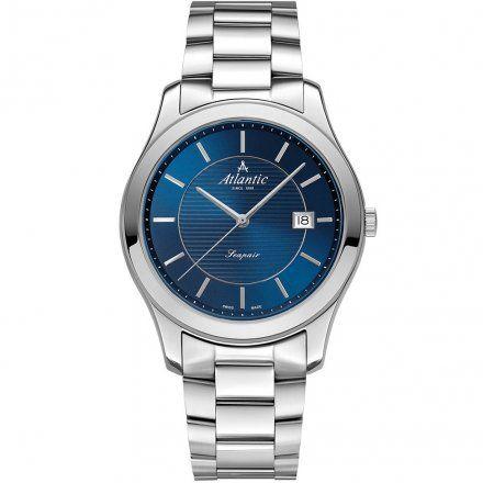 Atlantic Seapair zegarki szwajcarskie dla par Srebro-Granat