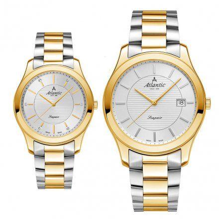 Atlantic Seapair zegarki szwajcarskie dla par Bikolor