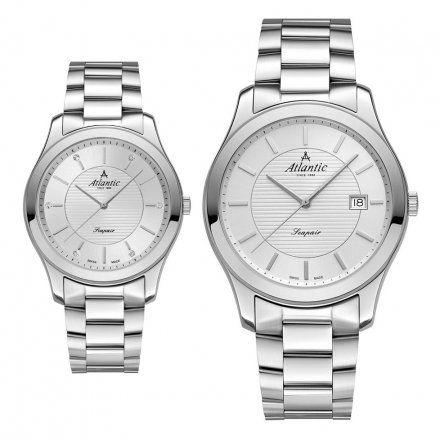 Atlantic Seapair zegarki szwajcarskie dla par Srebrne