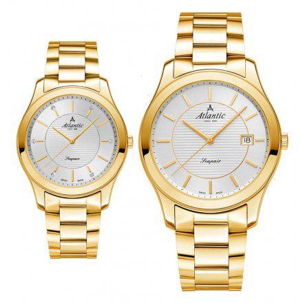 Atlantic Seapair zegarki szwajcarskie dla par Złote