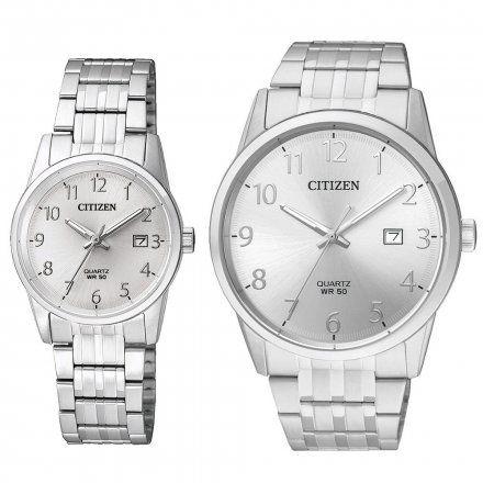 Citizen Classic Zegarki dla par Srebrne