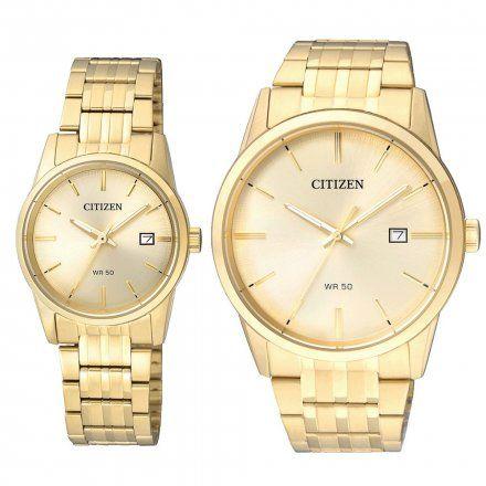 Citizen Classic Zegarki dla par Złote