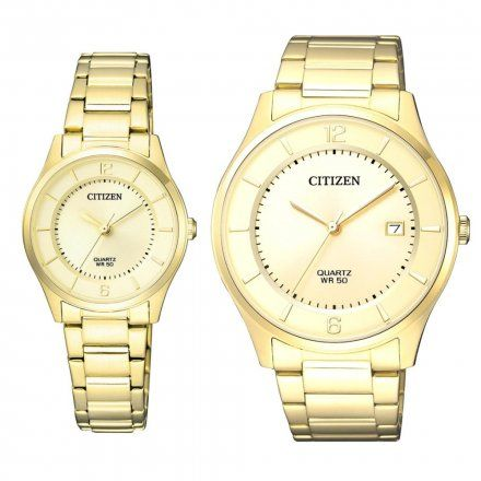 Citizen Classic Zegarki dla par Złoto