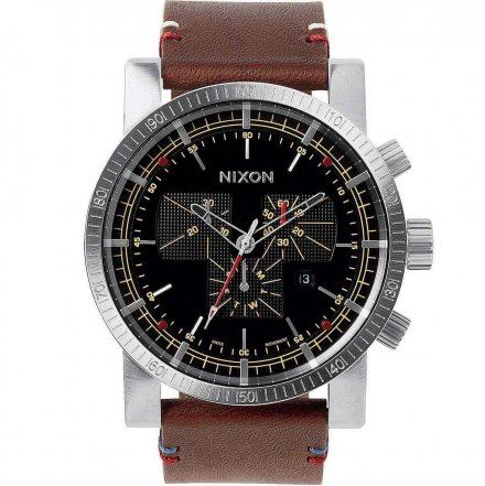 Zegarek Nixon Black Brown Nixon Magnacon Leather A2671019