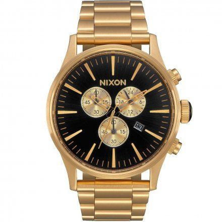 Zegarek Nixon Sentry Chrono All Gold Black A3861510