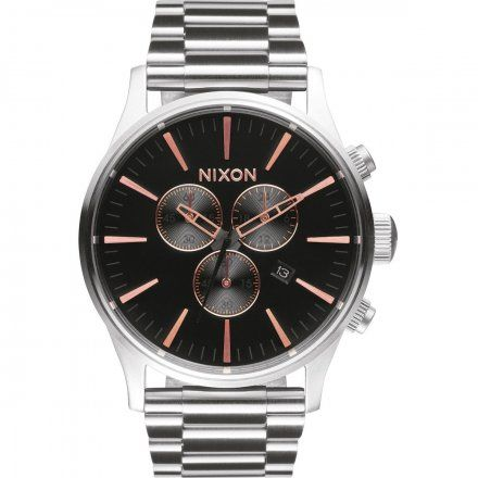 Zegarek męski Nixon SENTRY CHRONO GRAY/ROSE GOLD A3862064