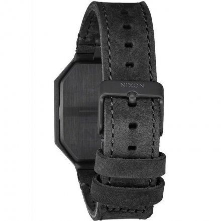 Zegarek Nixon RE-RUN LEATHER ALL BLACK A9441001