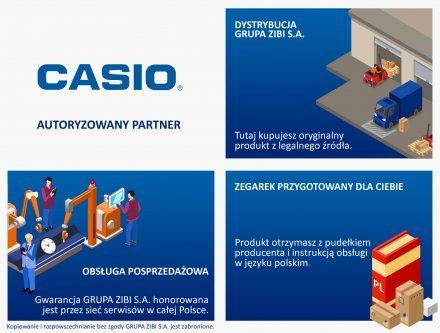 Zegarek Męski Casio MTS-100L-2AVEF Casio Classic MTS 100L 2AVEF