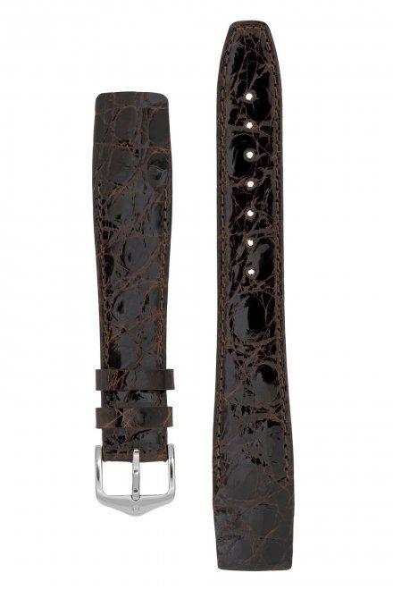 Pasek Skórzany HIRSCH Certified Croco 18800810-1 17mm z Krokodyla