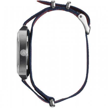 Zegarek Nixon Time Teller Navy Red Nylon - Nixon A0452152