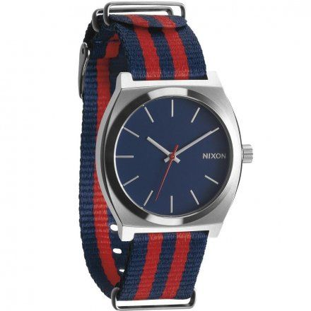 Zegarek Nixon Time Teller Navy Red Nylon - Nixon A0452152