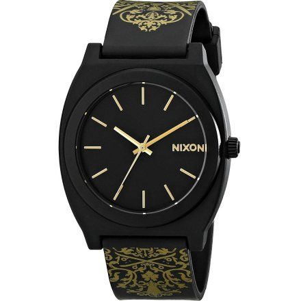 Zegarek Nixon Time Teller Black Gold Ornate - Nixon A1191881