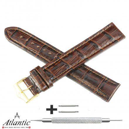 Oryginalny Pasek Atlantic Model PA ATL Brązowy XXL 20 mm
