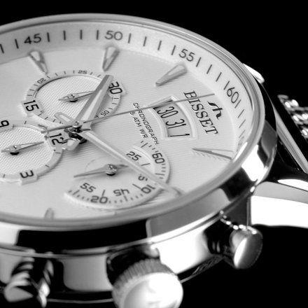 Bisset BSDE88SISX05AX Zegarek Szwajcarski Marki Bisset