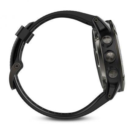 Zegarek Garmin Fenix 5X Sapphire 010-01733-01 Stalowy z czarnym paskiem