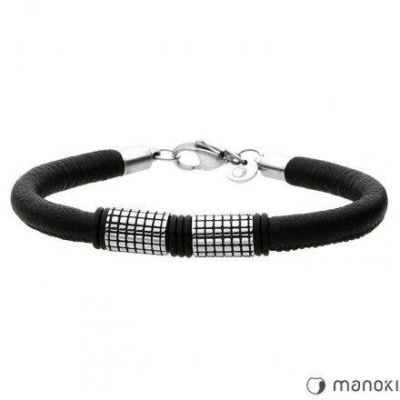 Biżuteria Manoki Skórzana bransoletka męska BA412B