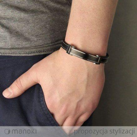 Biżuteria Manoki Skórzana bransoletka męska BA490